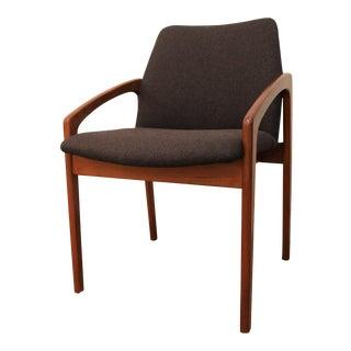 Mid-Century Danish Modern Kai Kristiansen Korup Stolefabrik Teak Open Arm Chair