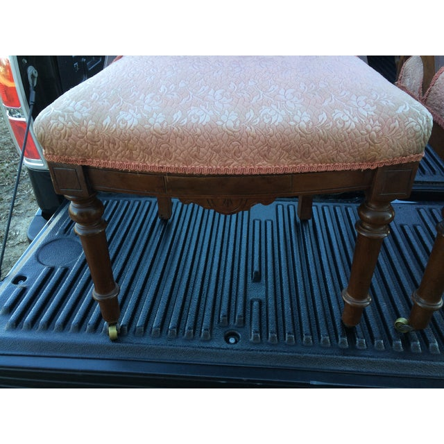 Vintage Victorian Chairs, Pink Upholstery - Pair - Image 9 of 9