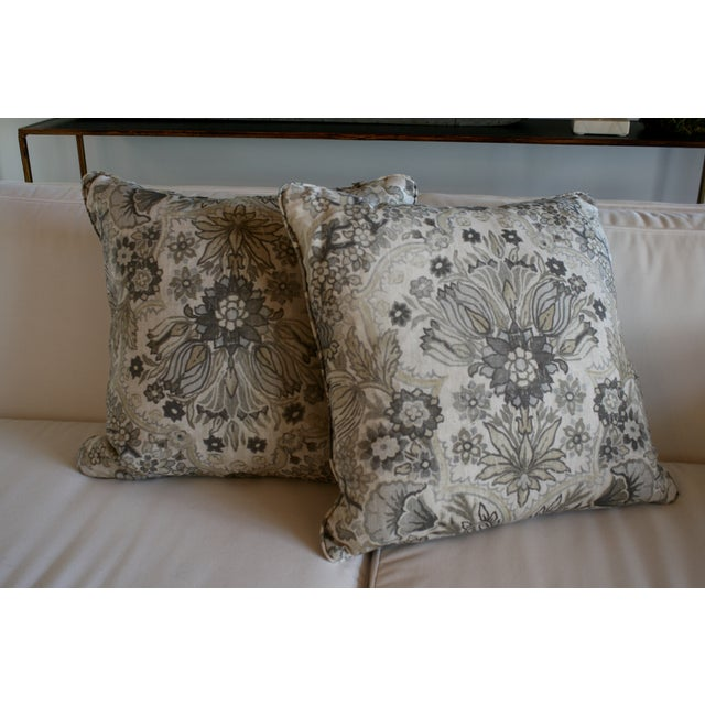 Lee Jofa Grey/Bisque Tetbury Pillow Cover - Image 3 of 6