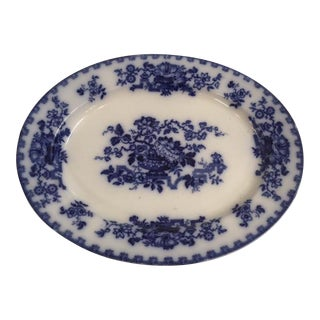 Blue and White Ironstone Platter
