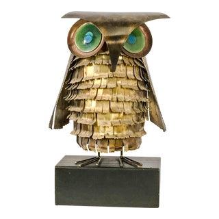 C. Jere Brutalist Brass Owl