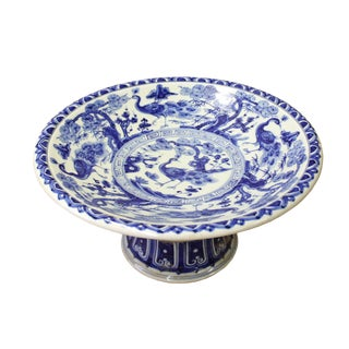 Chinese Blue White Round Porcelain Offer Display Plate