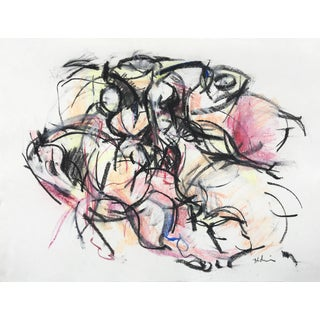 Polo Player #3 Abstract Drawing