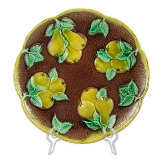 English Majolica Yellow Pears Plate