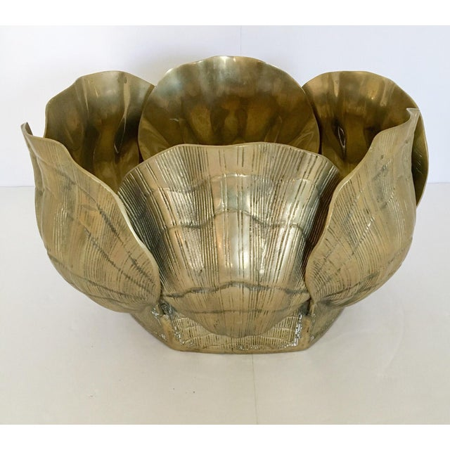 Large Brass Shell Planter - Image 7 of 7