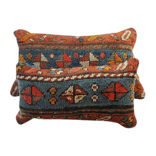 Antique Caucasian Casak Rug Fragment Lumbar Pillows - a Pair