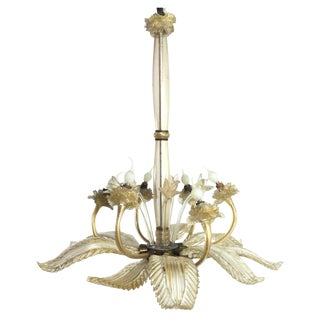 Barovier E Toso Leaf Form Chandelier