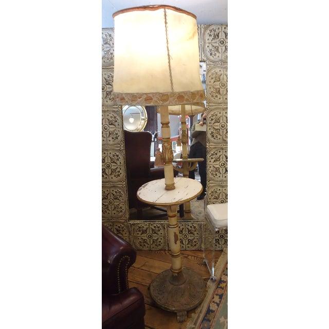 Vintage Carved Wood Standing Lamp - Image 2 of 4