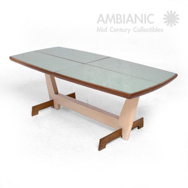 Sophisticated Custom Coffee Table After Gio Ponti Decaso