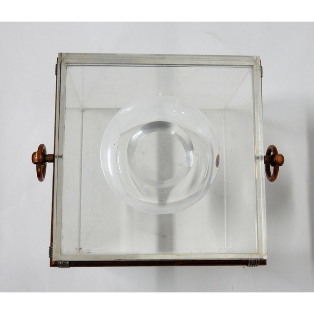Vintage Cube Brass & Lucite Ice Bucket - Image 7 of 8