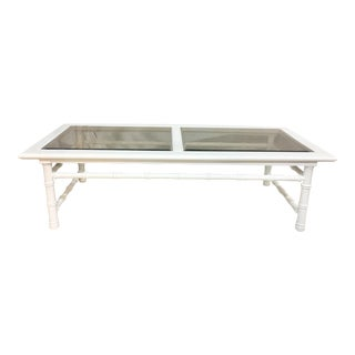 Mersman Hollywood Regency Faux Bamboo Coffee Table