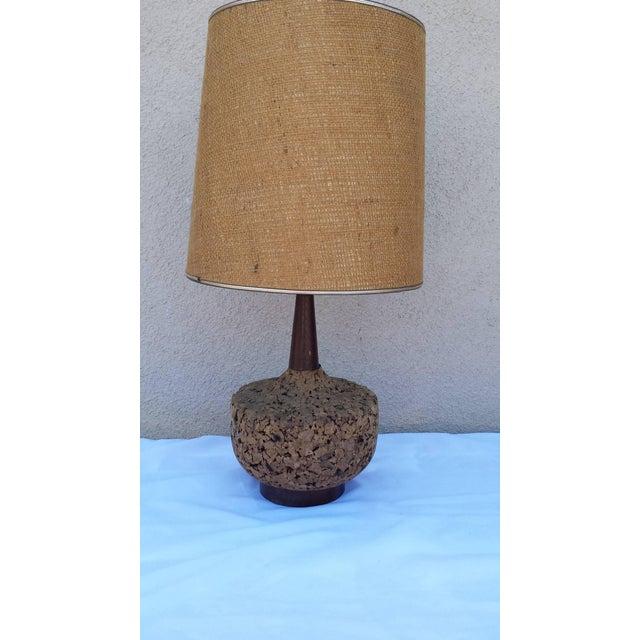 Mid-Century Danish Modern Cork Lamp - Image 6 of 6