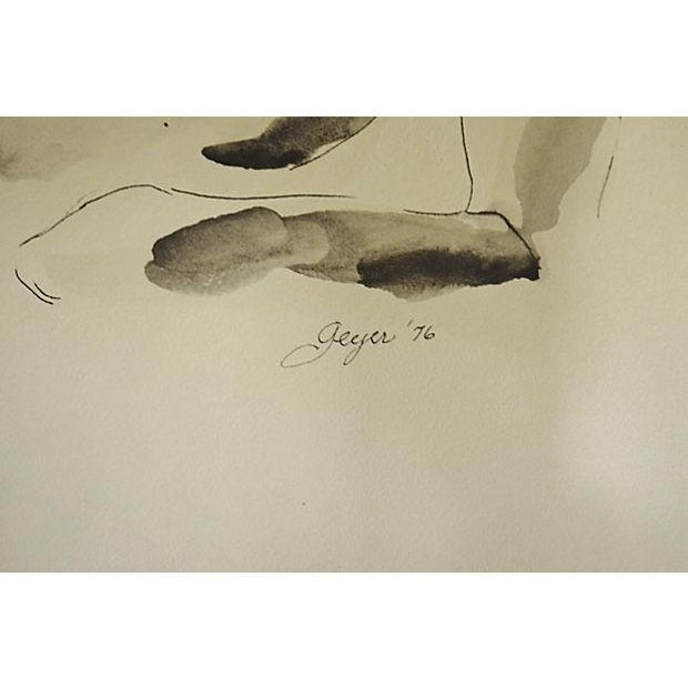 Image of Gray Male Nude Watercolor