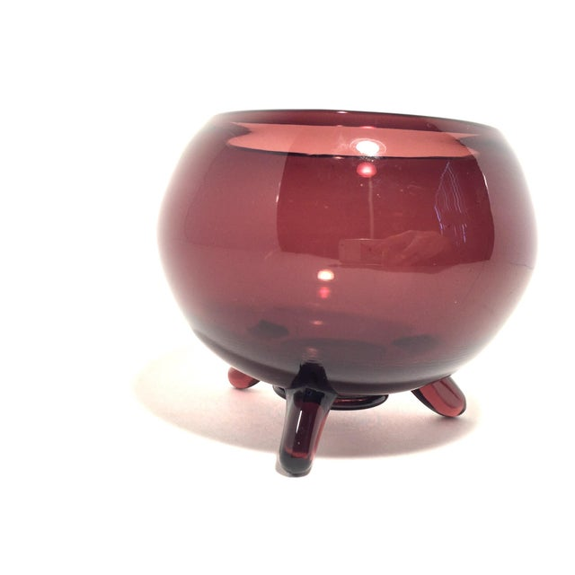 MCM Viking Footed Art Glass Dish - Image 3 of 7