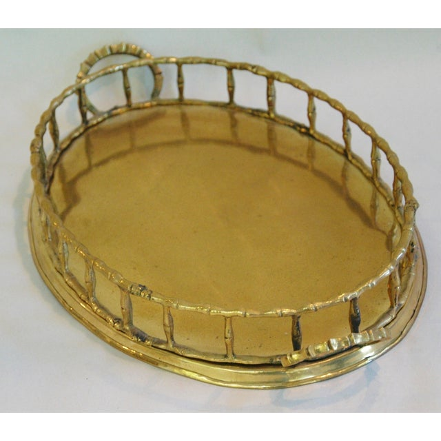 Image of 1960s Brass Cocktail Tray