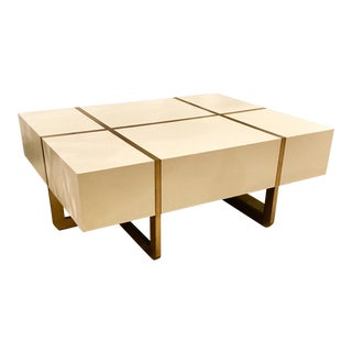 Maitland Smith Ivory Cocktail Table