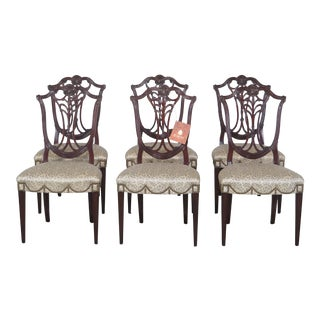 Karges Carved Mahogany Federal Dining Room Chairs - Set of 6