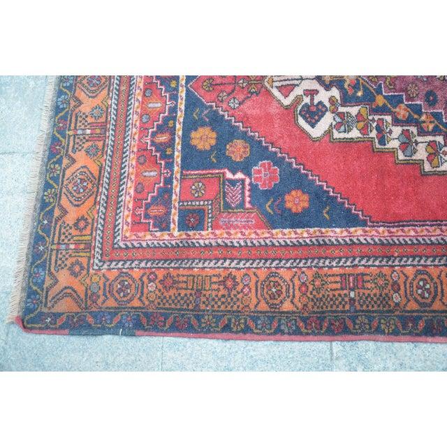 Vintage Anatolian Tribal Turkish Rug - 4′5″ × 7′9″ - Image 6 of 6