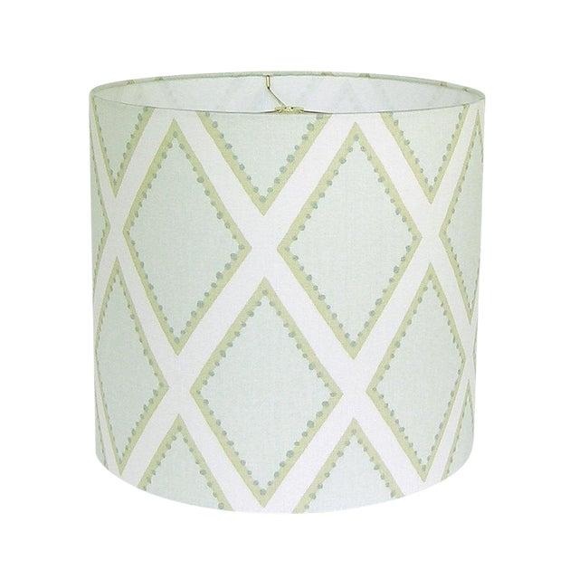 Kravet Celadon Brookhaven Fabric Drum Lamp Shade - Image 1 of 3