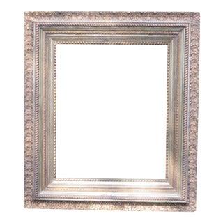 "Antique Large Wood Gesso Gold Gild Picture Frame - 27"" x 31"""