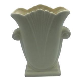 Haeger Ceramic Vase in Ivory