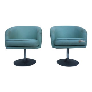 Mid-Century Modern Tulip Swivel Chairs- A Pair
