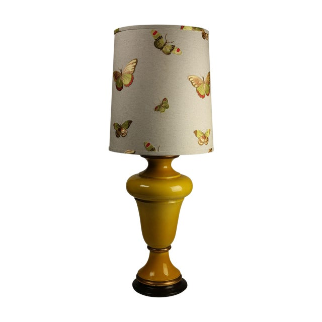 Citron Ginger Jar Lamps - A Pair - Image 1 of 4