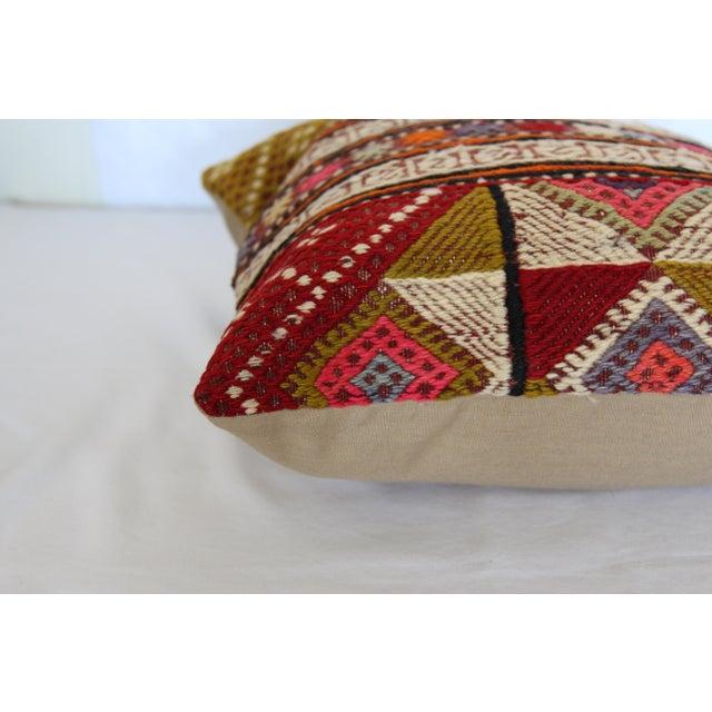 "Kilim Pillow Handmade Pillowcase Boho Chic Vintage - 16"" x 16"" - Image 6 of 7"