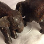 Image of Antique Bowing Elephants - A Pair