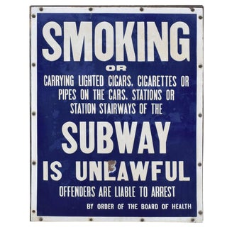 New York City Subway No Smoking Sign