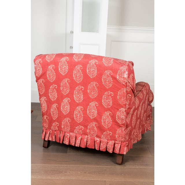 Image of Red Slipcovered Chair