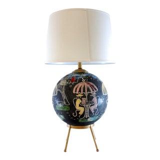 Mid-Century Atomic Cafe Paris Table Lamp