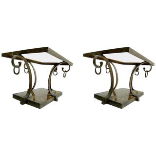 Pair of Arturo Pani Brass Side Tables