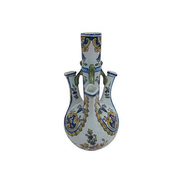 Image of French Faience Quad Finger Vase