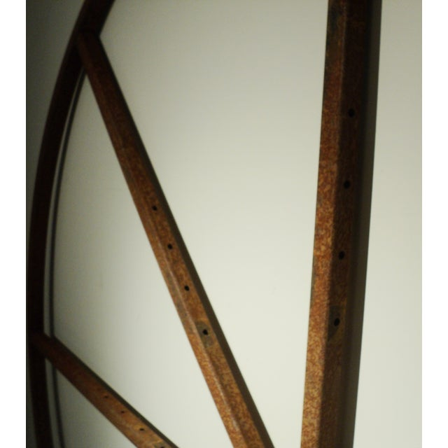 Image of Large Industrial Metal Wheel Clock Shelf Object