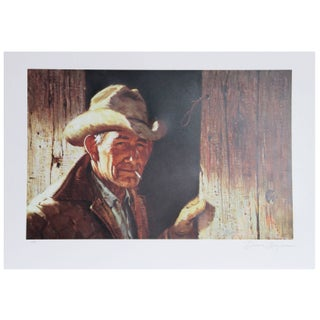 Duane Bryers Weathered Lithograph