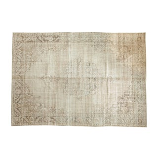 "Vintage Distressed Oushak Carpet - 8'3"" x 11'10"""