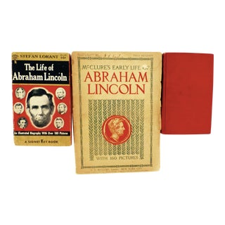 Antique Abraham Lincoln Books - Set of 3