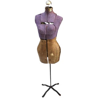Vintage Purple Mannequin Floor Lamp
