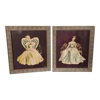 Vintage Framed Art Prints - A Pair