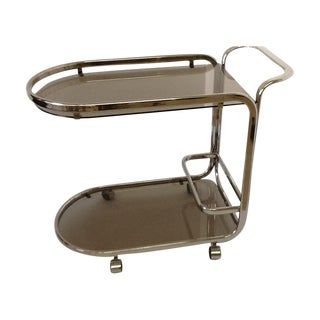Nickel Bar Cart