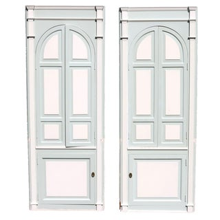 Custom Arch Panel Corner Cabinets - A Pair