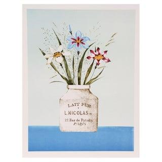 Mary Faulconer, White Iris, Lithograph