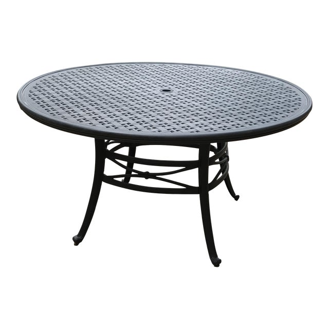Mallin napa outdoor dining table chairish for Furniture 4 less napa