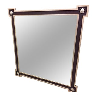 Black & Pale Gold Framed Mirror