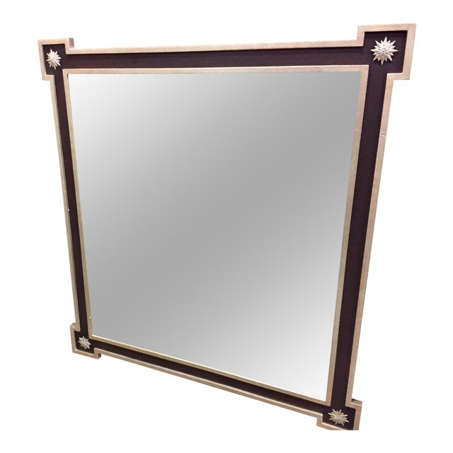 Image of Neoclassical Hammered Tin Framed Mirror