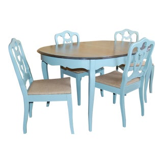 Painted Vintage Duck Egg Dining Set - Set of 5