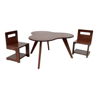 Kids S Chairs and Amoeba Table Set