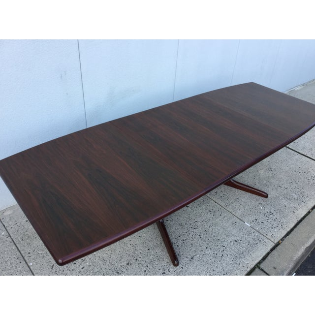 Massive Danish Rosewood Dining Table by Skovby - Image 5 of 11