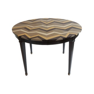 Hand-Painted Chevron Dining Table